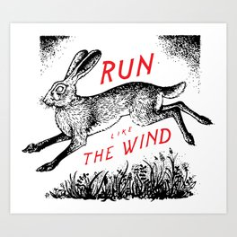 Run Like The Wind Art Print