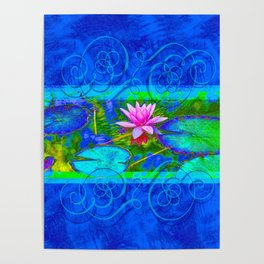 Lotus Blossom Blues Poster