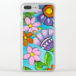 Springtime Series #5 Singing Bird Clear iPhone Case
