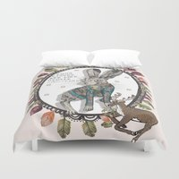 hare Duvet Covers featuring Hare by Sally Darby Illustration
