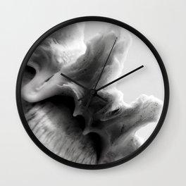 B&W Shell Wave Wall Clock