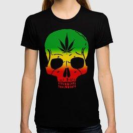 Rasta Weed Skull   Skull Shirt   Skull Mugs   Weed Mugs T-shirt