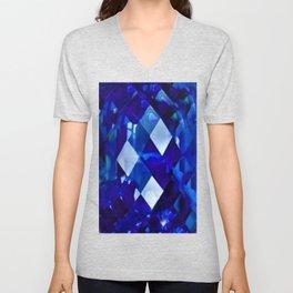 Blue Sapphire September Birthstone Gem Unisex V-Neck