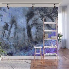 abstract misty forest painting hvhdc80 Wall Mural