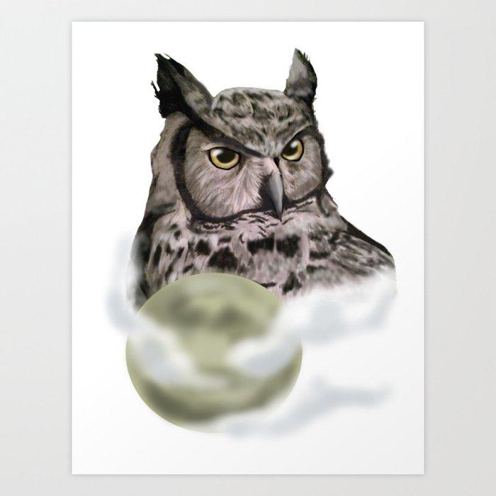 Guardian of the Moon Art Print