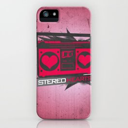 Stereo Hearts iPhone Case