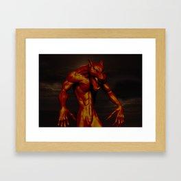 Bronze Werewolf Framed Art Print