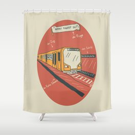 U-BAHN Shower Curtain