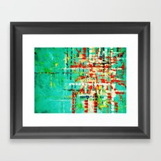 on my street -turquoise abstract Framed Art Print
