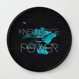 Knowledge Equals Power Wall Clock