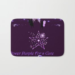 Power Purple For a Cure - Mystic Alternate Bath Mat