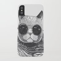 anaconda iPhone & iPod Cases featuring cool cat by Polkip