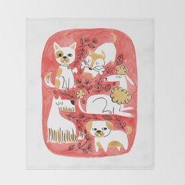 Year of the Dog Throw Blanket