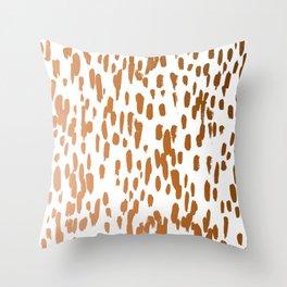 Copper Brushstrokes #society6 #decor #interiors Throw Pillow