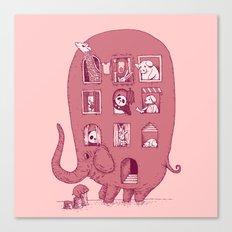 Elephant Bus - FatPanda Canvas Print