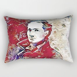 Charles Baudelaire 1. Rectangular Pillow