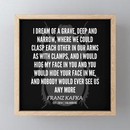57   |  Franz Kafka Quotes | 190517 Framed Mini Art Print