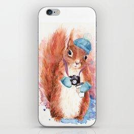 Winter Squirrel iPhone Skin