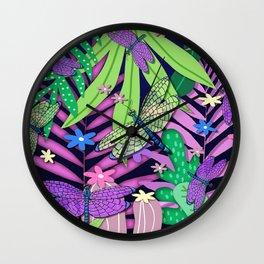 Fantasy Botanical LS Wall Clock
