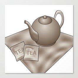 Vintage Tea time Canvas Print