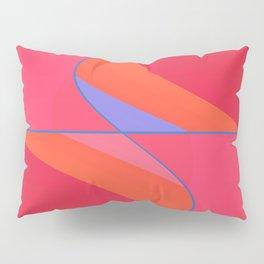 Big Red Swirl Pillow Sham