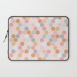 Pink Copper and Grey Tiles Laptop Sleeve