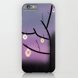 Chinese Lanterns In Lavender   iPhone Case