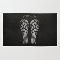 daryl dixon Area & Throw Rugs featuring Daryl Dixon Wings by Alex Johnson