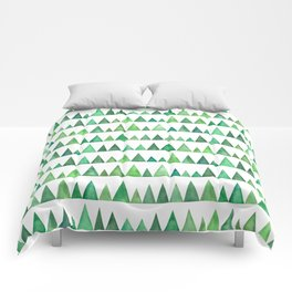 Watercolor forest park Comforters