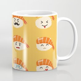 Sashimi emoji vector set. Emoji sushi with faces icons Coffee Mug