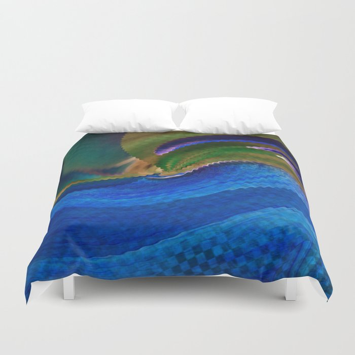 Wild Alaskan Sea Abstract Duvet Cover