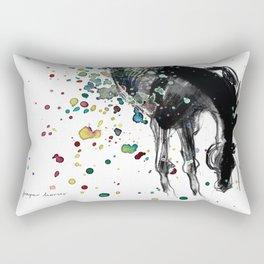 Horse (Nasty boy) Rectangular Pillow