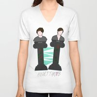 tegan and sara V-neck T-shirts featuring Heartthrob [Tegan and Sara] by Canadiquin