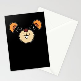 Cute Groundhog Day Woodchuck Shadow Animal Holiday Stationery Cards