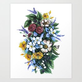 United States of Wildflowers Art Print