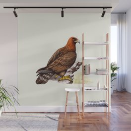 Watercolor Golden Eagle Wall Mural
