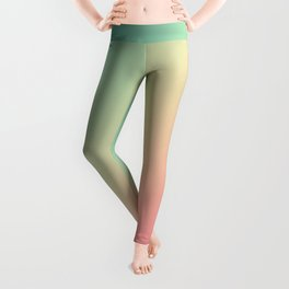 Gradient Colours: Turquoise Pink Pastel Leggings