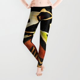 Africa Design Fabric Texture Leggings