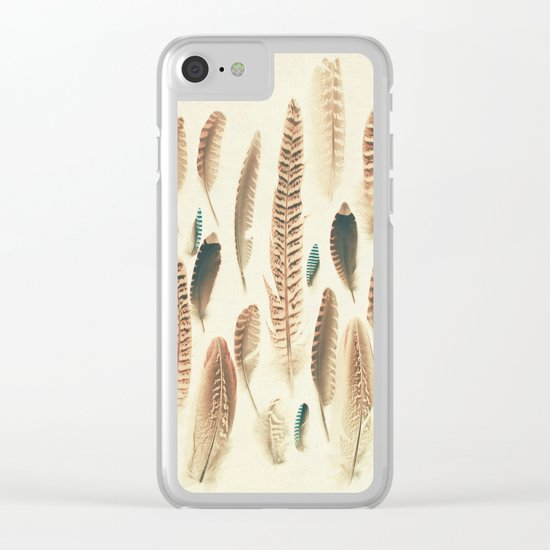 Found Feathers Clear iPhone Case