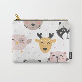 Woodland Critters Pattern Carry-All Pouch
