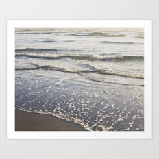 Pacific Waves at Sunset Art Print