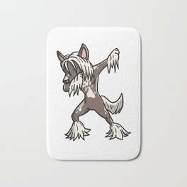 Funny Dabbing Chinese Crested Dog Dab Dance Bath Mat