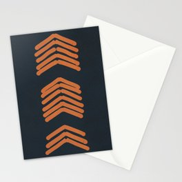 Zora's Chevron - Copper on Navy Stationery Cards
