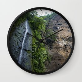 Thin Waterfall Cascading in the Rainforest of the Chocoyero-El Brujo Nature Reserve in Nicaragua Wall Clock