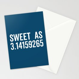 Sweet As Pi Funny Quote Stationery Cards