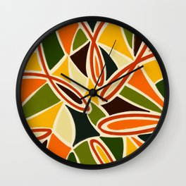 Sunflower Fever - Abstract Tropical Jungle  Illustration Wall Clock