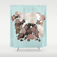 bulldog Shower Curtains featuring Bulldog by Glen Gould