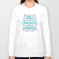 camus Long Sleeve T-shirts featuring Camus on Passion by Josh LaFayette