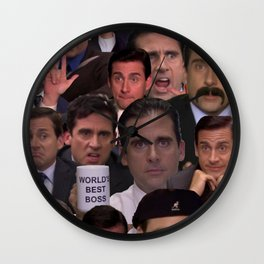 Michael Scott Collage Wall Clock