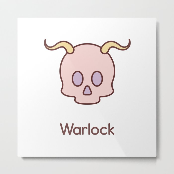 Cute Dungeons and Dragons Warlock class Metal Print